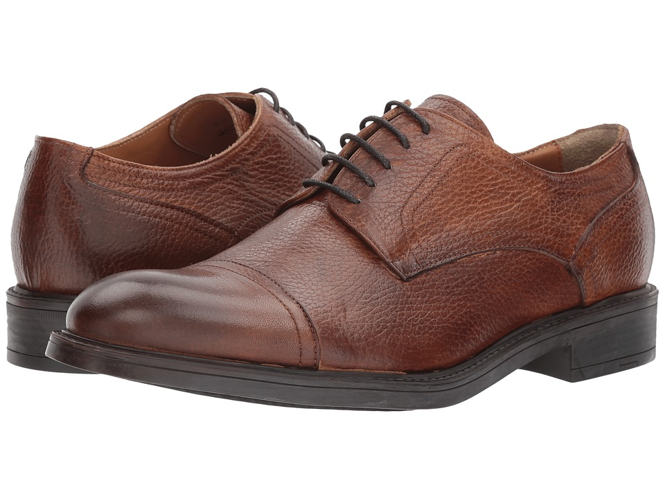Kenneth Cole New York - Design 10621 (Cognac) Mens Lace Up Cap Toe Shoes