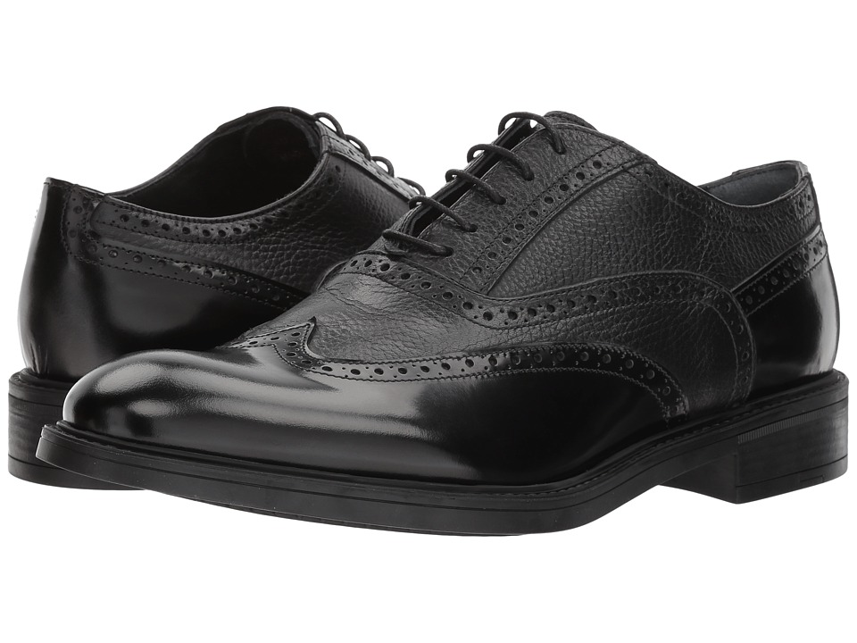 Kenneth Cole New York - Design 106212 (Black) Mens Lace Up Wing Tip Shoes