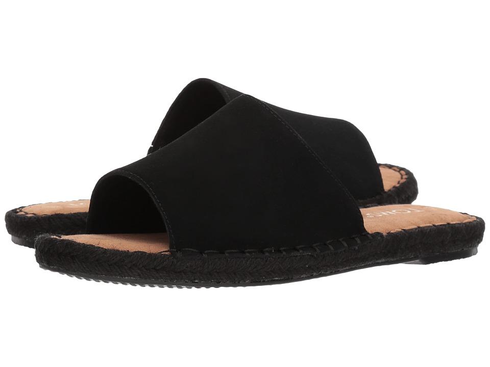 TOMS Clarita (Black Suede) Slides