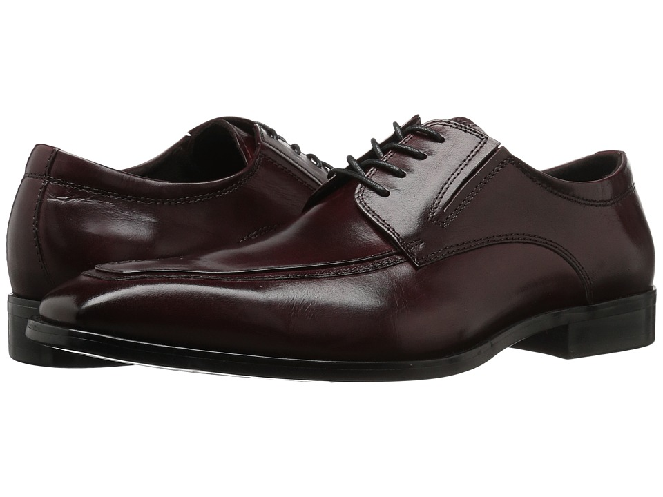 Kenneth Cole New York - Design 10941 (Bordeaux) Mens Lace Up Moc Toe Shoes