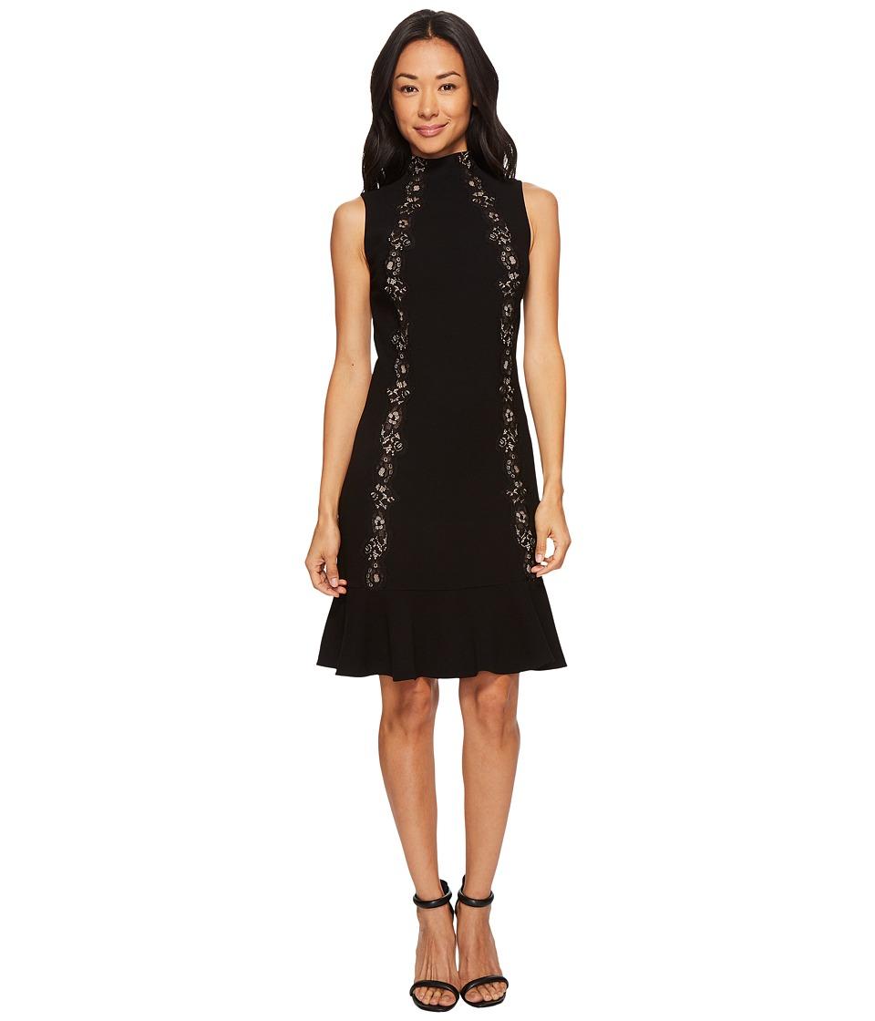 Rebecca Taylor Sleeveless Crepe Dress (Black) Women