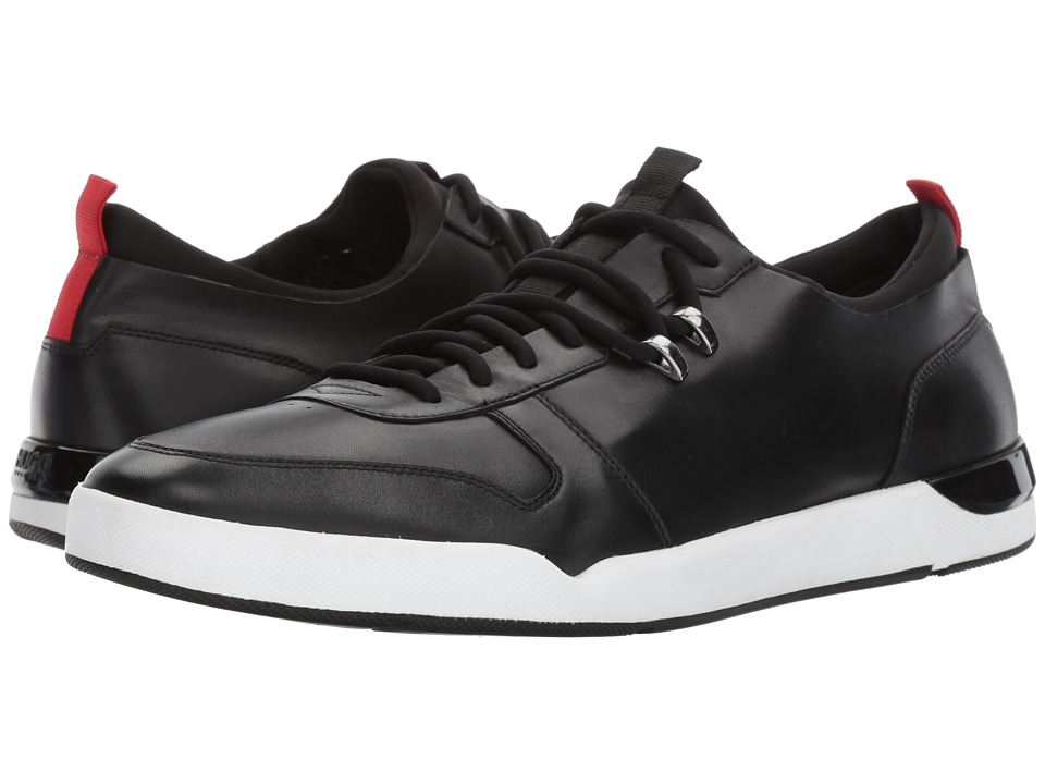BOSS Hugo Boss Fusion Leather Sneaker by HUGO (Black) Men