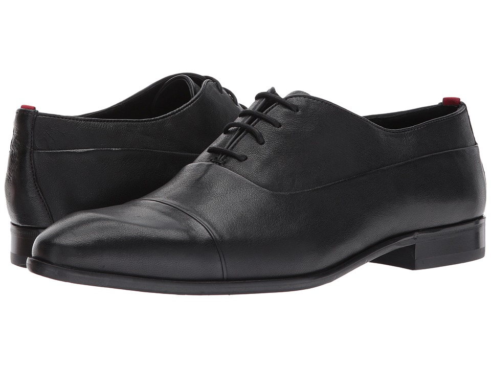 1940s Style Mens Shoes BOSS Hugo Boss - Dress Appeal Leather Lace-Up Oxford by HUGO Black Mens Lace up casual Shoes $275.00 AT vintagedancer.com