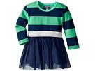 Toobydoo Tulle Dress w/ Rugby Stripe (Infant/Toddler/Little Kids/Big Kids)