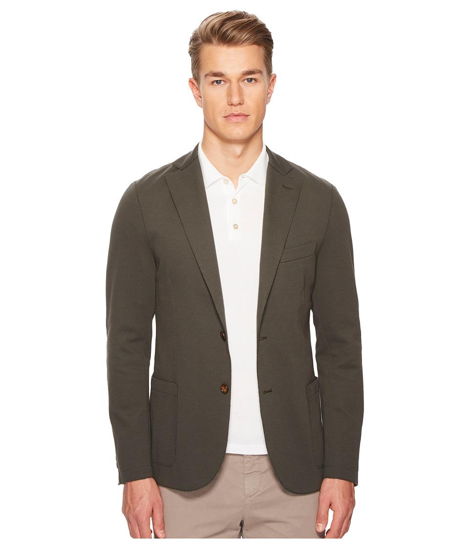 eleventy - Laser Cut Jersey Blazer (Green) Mens Clothing