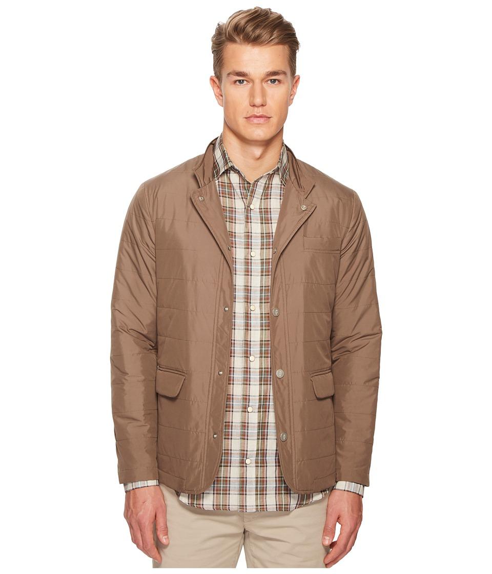 ELEVENTY Nylon Hybrid Snap Front Jacket (Tan) Men's Coat