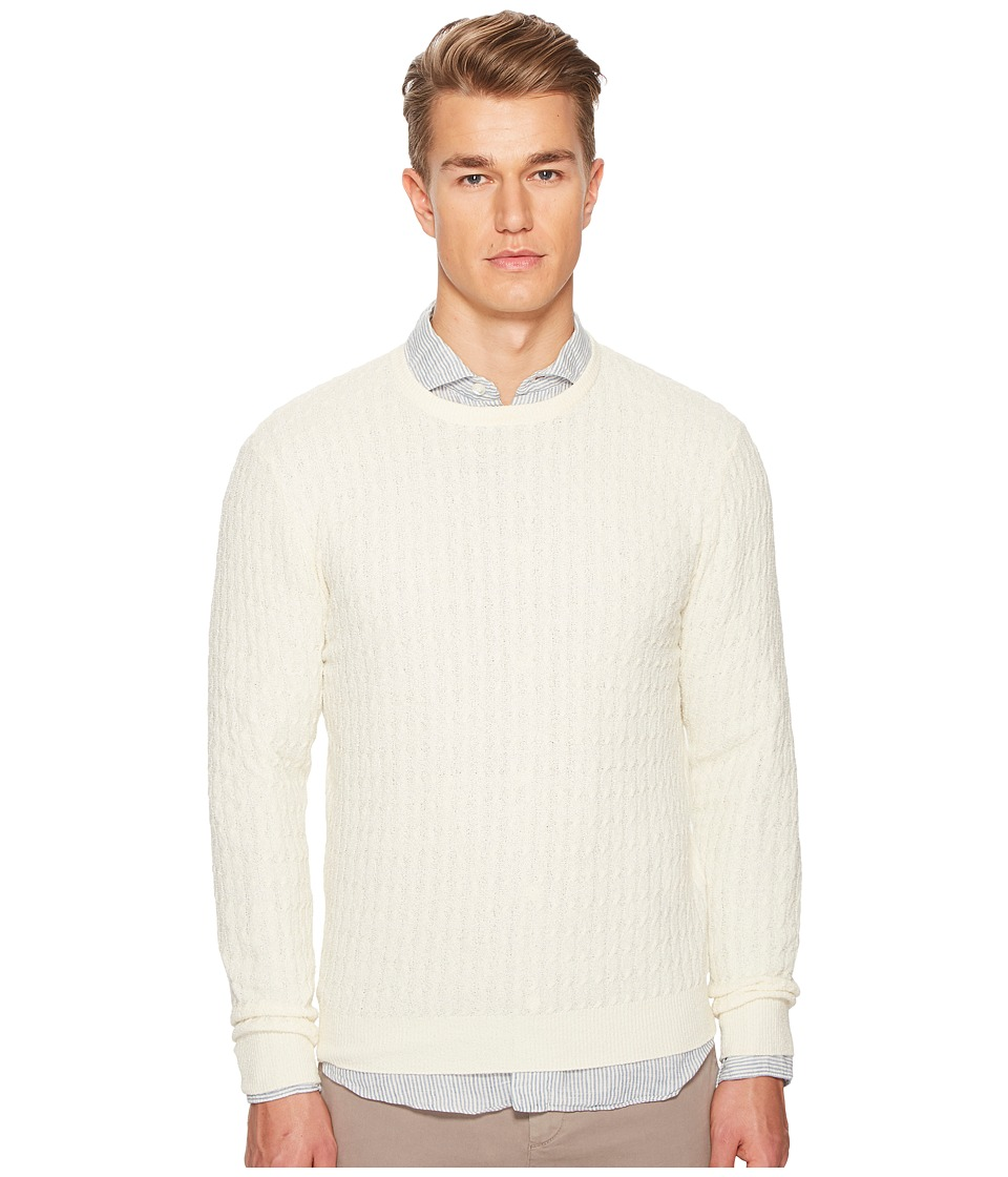ELEVENTY Spunia Cable Knit Sweater (Ivory) Men's Sweater