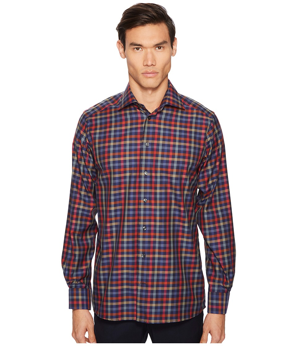 Eton - Contemporary Fit Multi Plaid Shirt