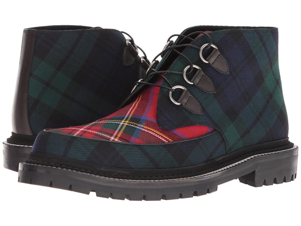 Burberry - Melton Tartan Boot (Black) Mens Boots