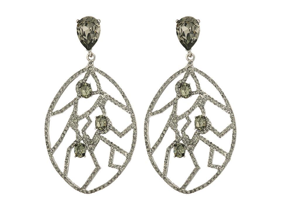 Oscar de la Renta - Luster Drop C Earrings (Silver) Earring