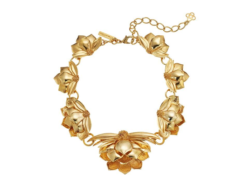 Oscar de la Renta - Wild Lotus Necklace (Gold) Necklace