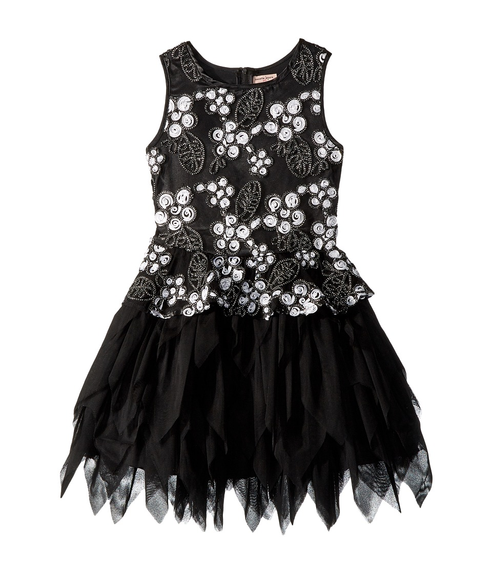 Nanette Lepore Kids - Novelty Soutache Fabric with Sequins and Tulle Dress