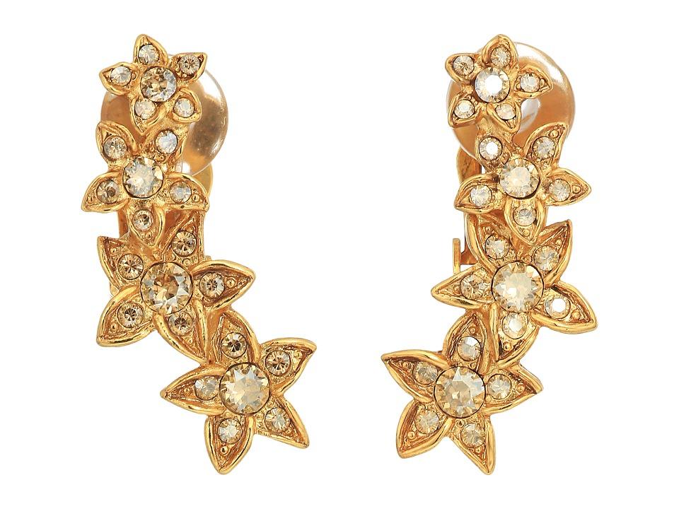 Oscar de la Renta Star Fish C Earrings (Cry Gold Shadow) ...
