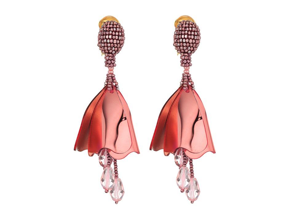Oscar de la Renta - Small Impatiens C Earrings (Grapefruit) Earring