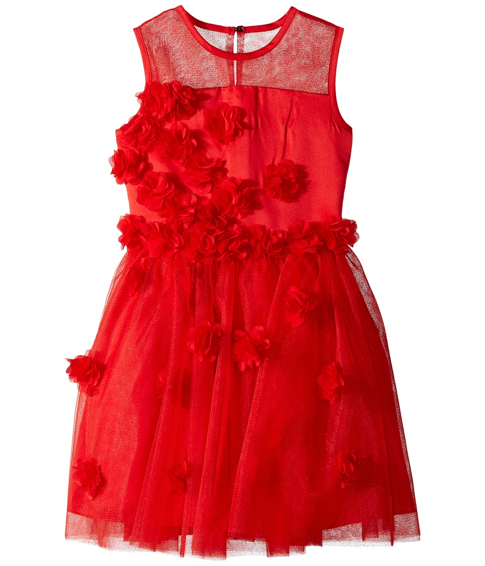 Nanette Lepore Kids - Tulle with Chiffon Tack on Flowers and Embellishment Dress