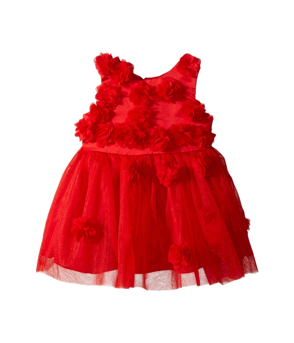 Nanette Lepore Kids - Matte Satin with 3D Flowers and Embellishment Dress