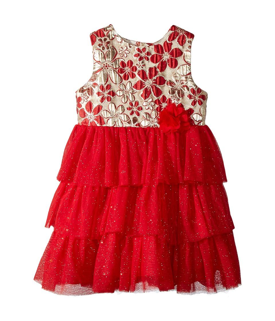 Nanette Lepore Kids - Lurex Jacquard Bodice with Layered Tulle Bottom Dress