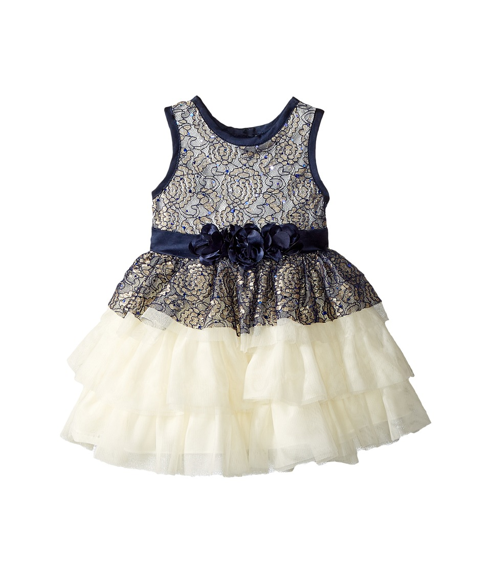 Nanette Lepore Kids - Satin with Tulle and Lace Overlay Dress