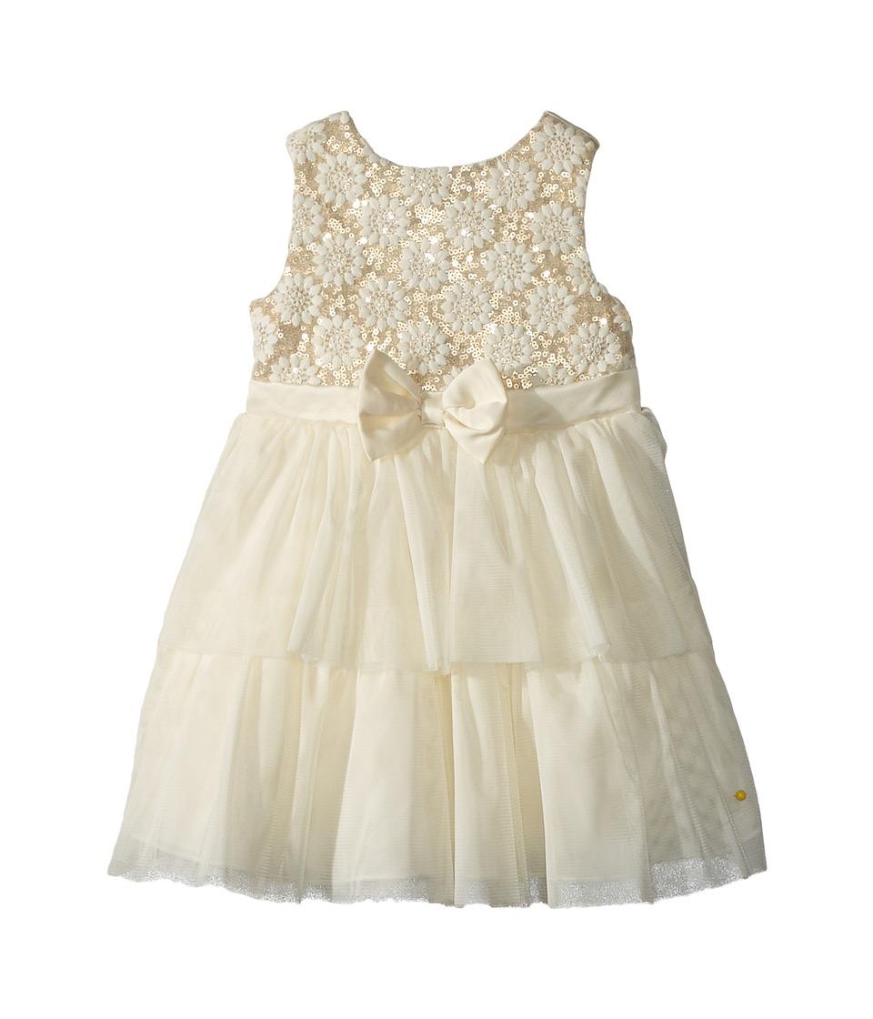 Nanette Lepore Kids - Embroidered Mesh Over Sequins Dress