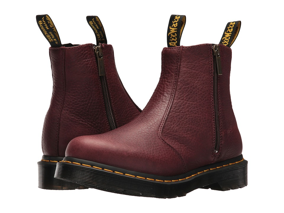 Dr. Martens 2976 w/ Zips (Cherry Red Grizzly) Women