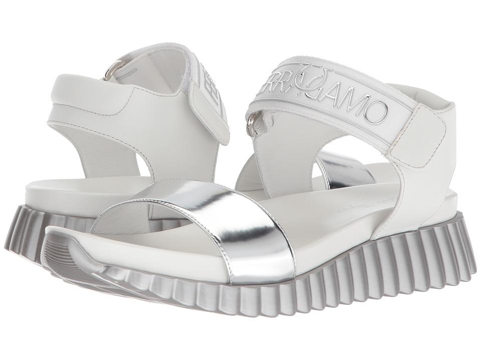 Salvatore Ferragamo - Sabaudia (Argento Specchio Croc) Women's Sandals
