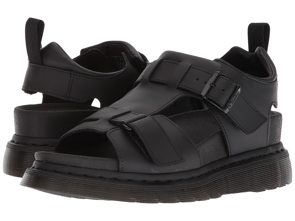 Dr. Martens Kamilah (Black Hydro Leather) Sandals