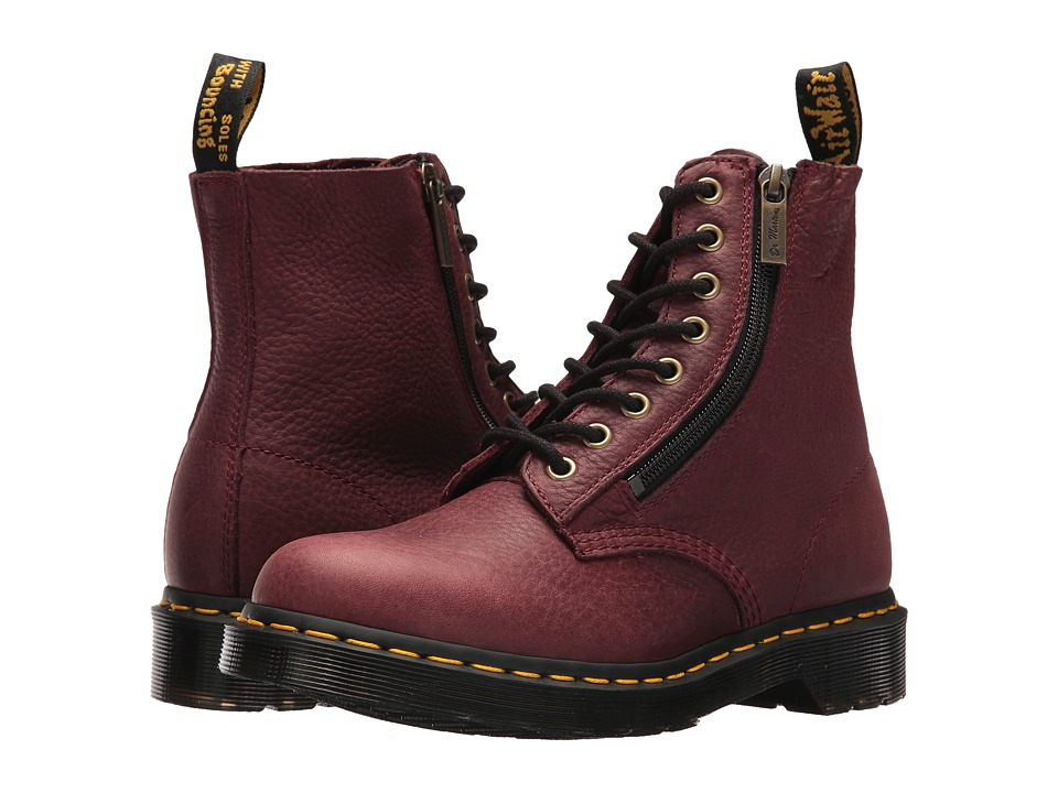 Dr. Martens Pascal w/ Zip (Cherry Red Grizzly)