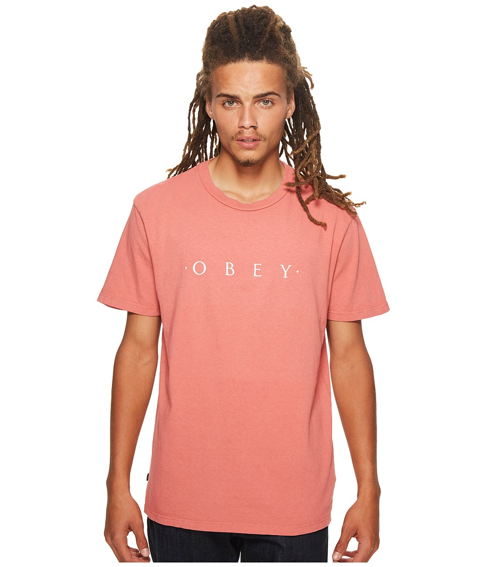 Obey Novel Obey Tee (Dusty Dark Rose) Men