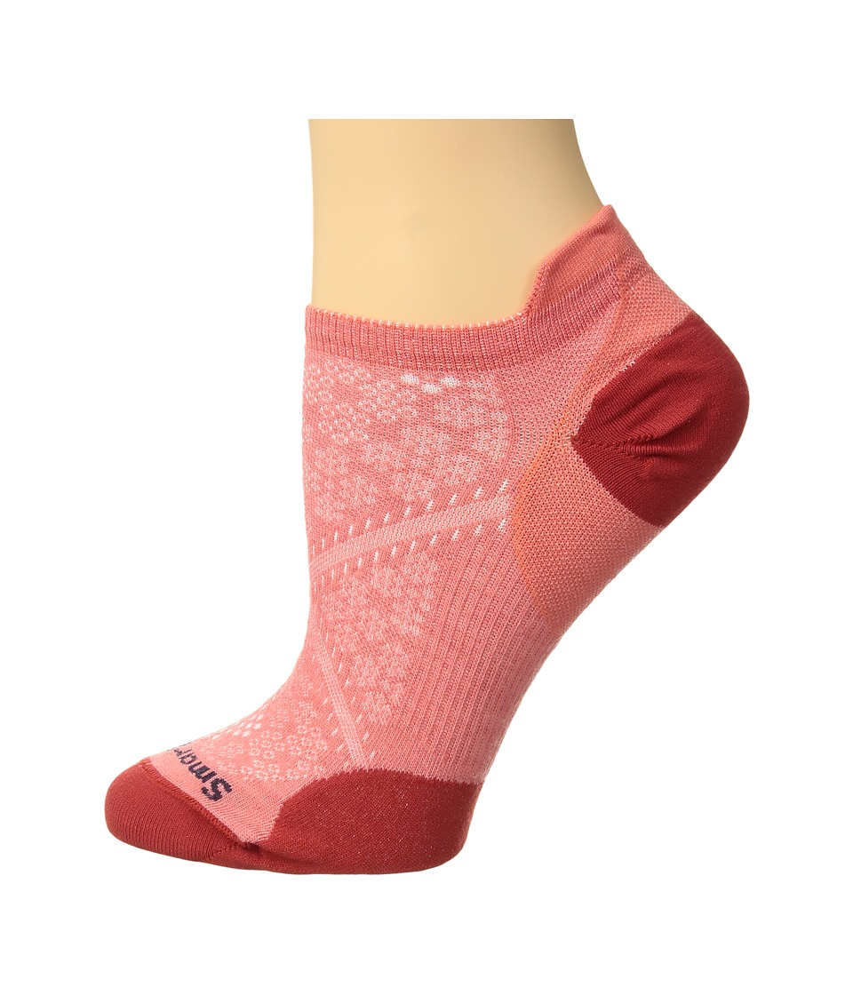 Smartwool - PhD(r) Run Ultra Light Micro (Bright Coral/Bright Coral) Womens No Show Socks Shoes