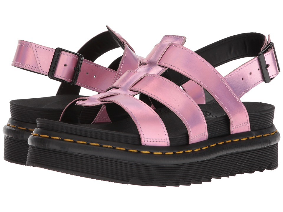 Dr. Martens Iced Metallic Yelena (Mallow Pink Reflective Metallic Leather) Sandals