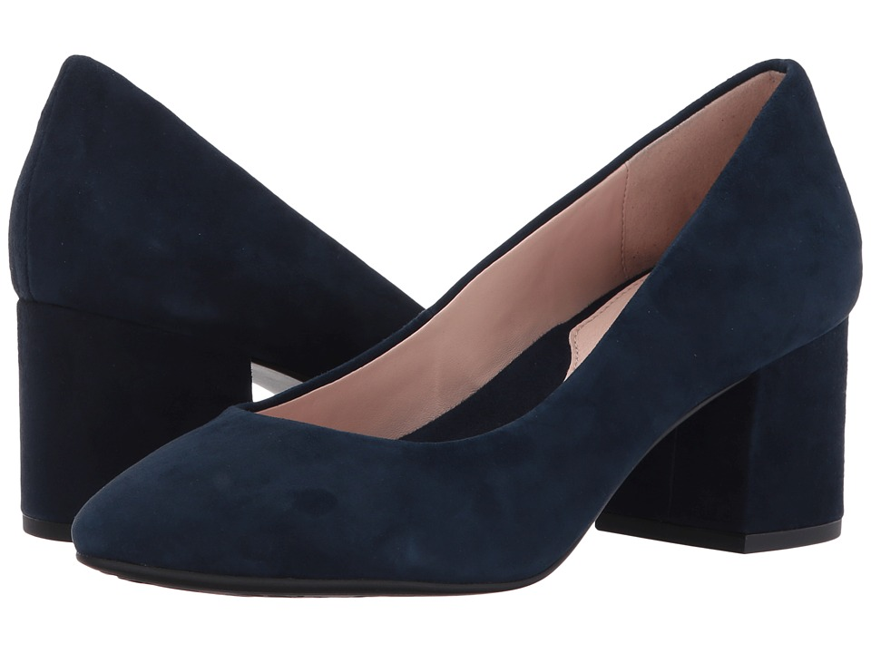 Taryn Rose Rochelle (Navy Silky Suede) High Heels