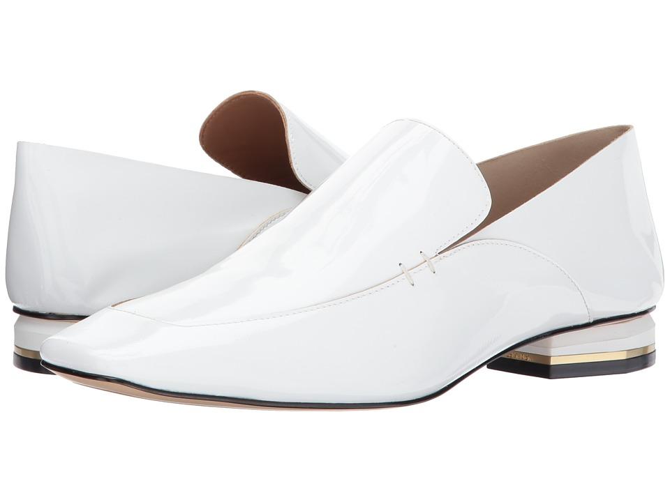 Calvin Klein Bia (White Soft Patent/Soft Patent Unlined) Women