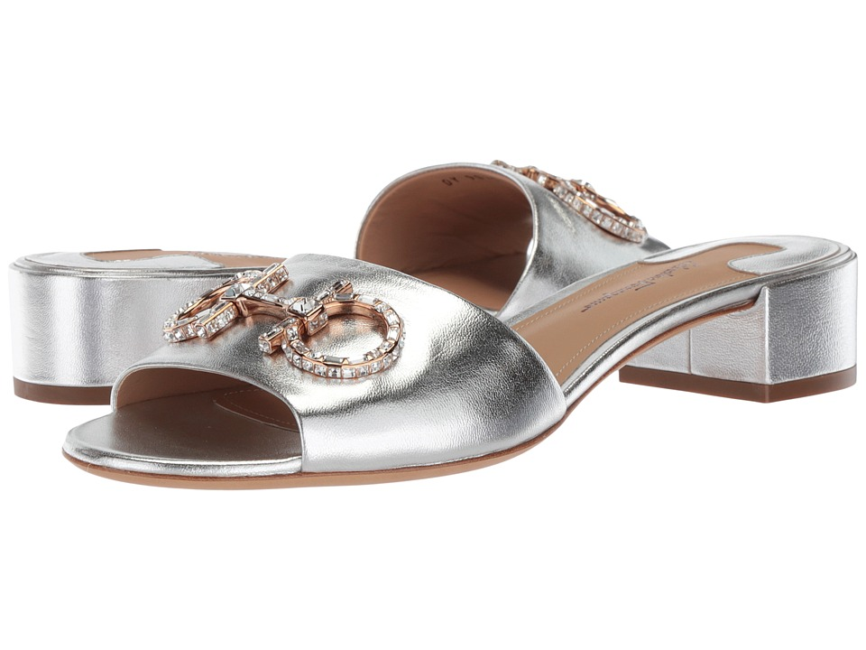 Salvatore Ferragamo - Lampio (Silver Nappa Silk) Women's Sandals