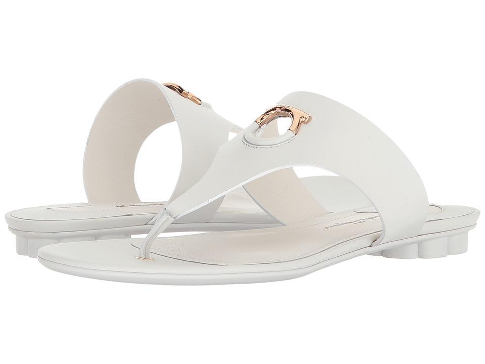 Salvatore Ferragamo - Enfola (New Bianco Ottico/Ricotta Alexand Calf) Women's Sandals