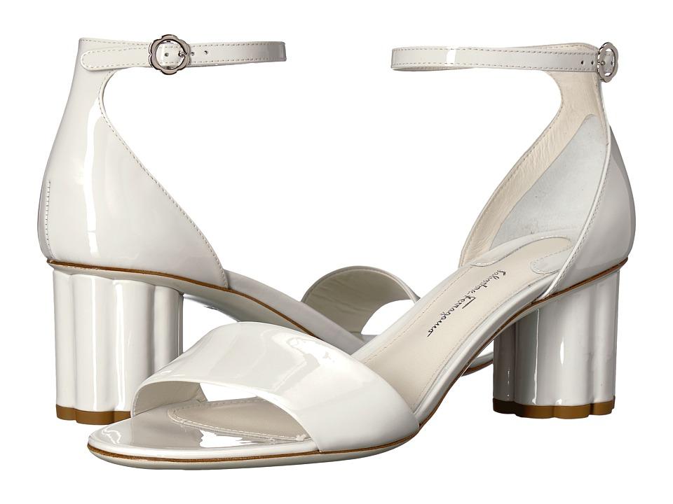 Salvatore Ferragamo Eraclea (New Bianco Ottico Patent) High Heels