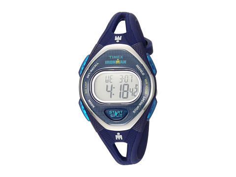 Timex Ironman Sleek 50 Mid-Size Silicone Strap - Navy