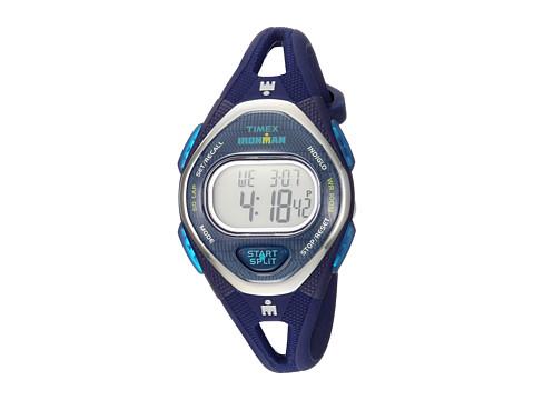 Timex Ironman Sleek 50 Mid-Size Silicone Strap - Navy