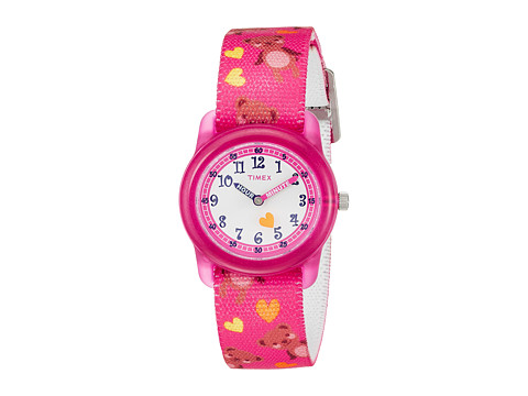 Timex Time Machines Analog Elastic Fabric Strap - Pink/Bears