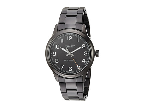 Timex New England Stainless Steel Bracelet - Black