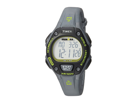 Timex Ironman Classic 30 Mid-Size Resin Strap - Gray/Lime