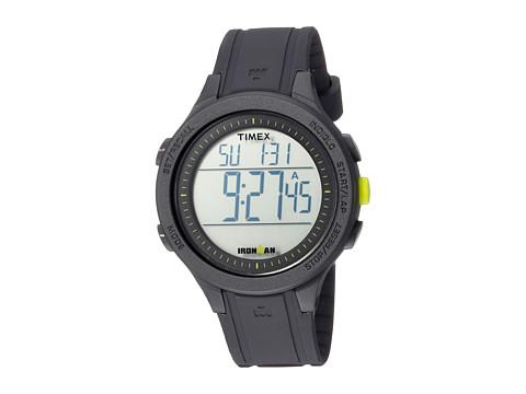 Timex Ironman Essential 30 Full-Size Resin Strap - Black/Lime