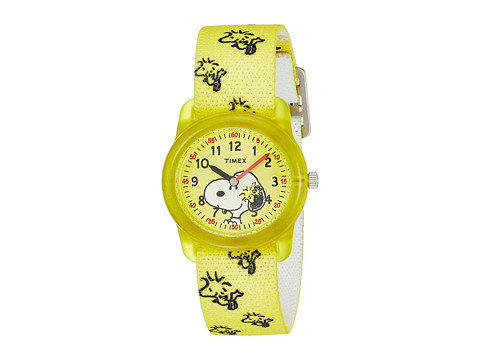 Timex Time Machines Analog X Peanuts Elastic Fabric Strap - Yellow/Woodstock/Snoopy