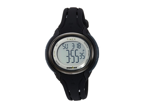 Timex Ironman Sleek 50 Oval Mid-Size Silicone Strap - Black