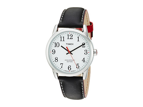 Timex Easy Reader 40th Anniversary Leather Strap - Black/White
