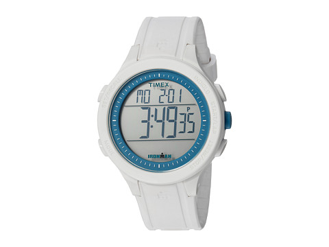 Timex Ironman Essential 30 Full-Size Resin Strap - White/Blue