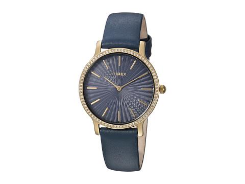 Timex Metropolitan Starlight Leather Strap - Navy/Gold-Tone