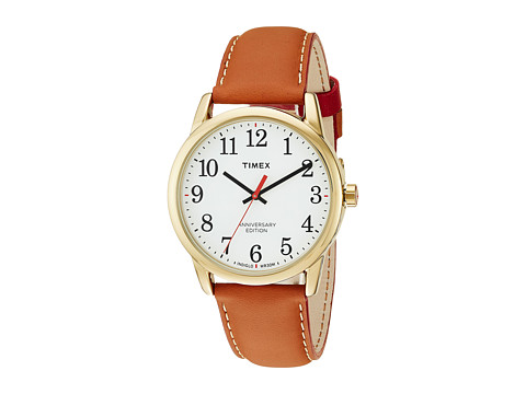 Timex Easy Reader 40th Anniversary Leather Strap - Tan/White