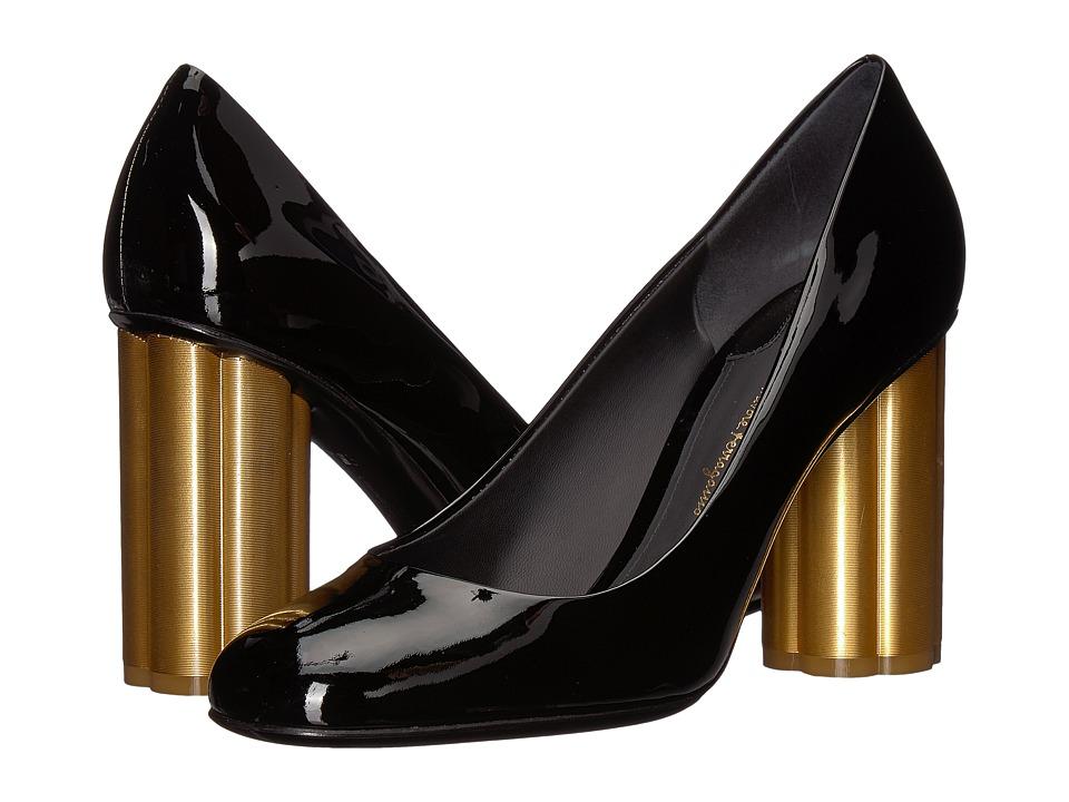 Salvatore Ferragamo Lucca 85 (Nero Patent) High Heels