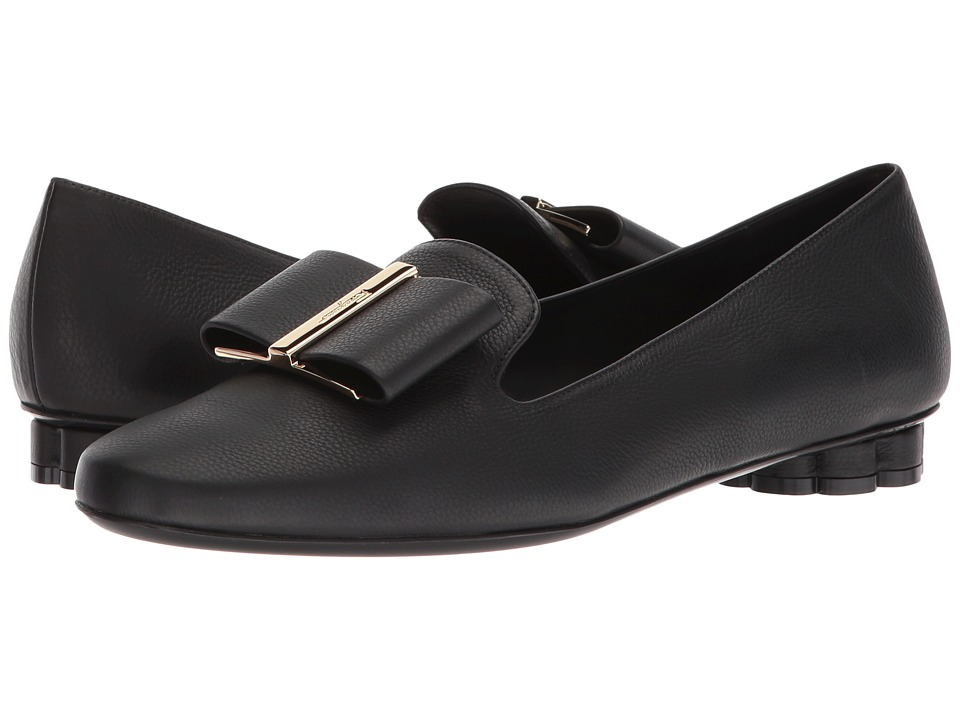 Salvatore Ferragamo Sarno (Nero Vitello Los Angeles) Women's Shoes
