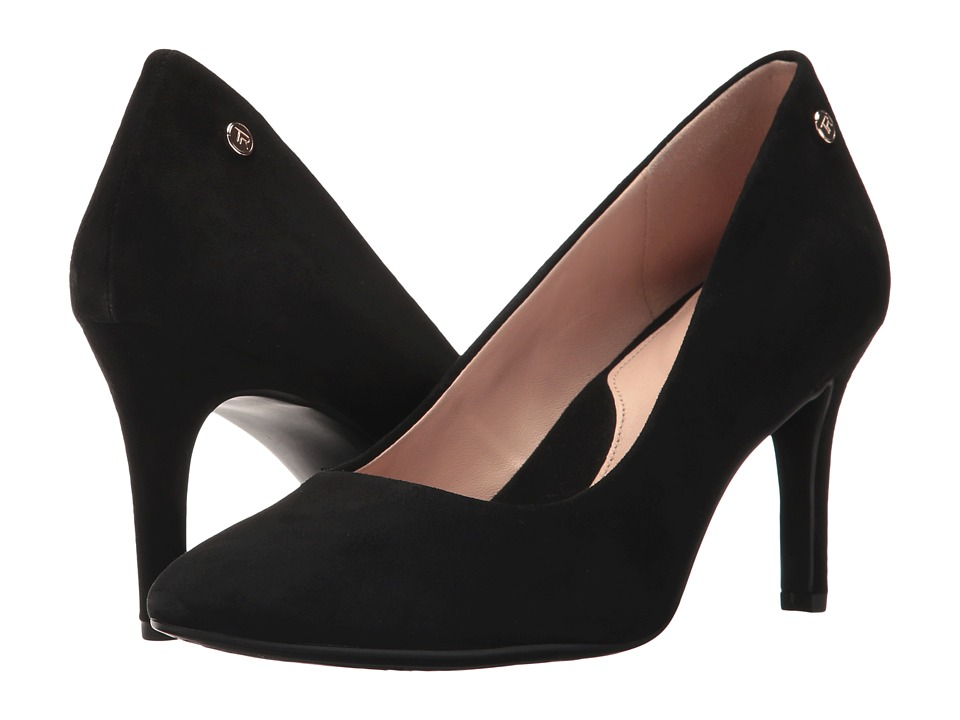 Taryn Rose Tamara (Black Silky Suede) Women's Shoes